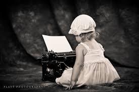 child typist