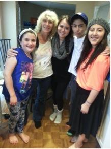 Junie with kids