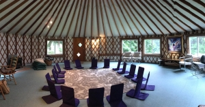 The gathering space at Xenia Island Retreat