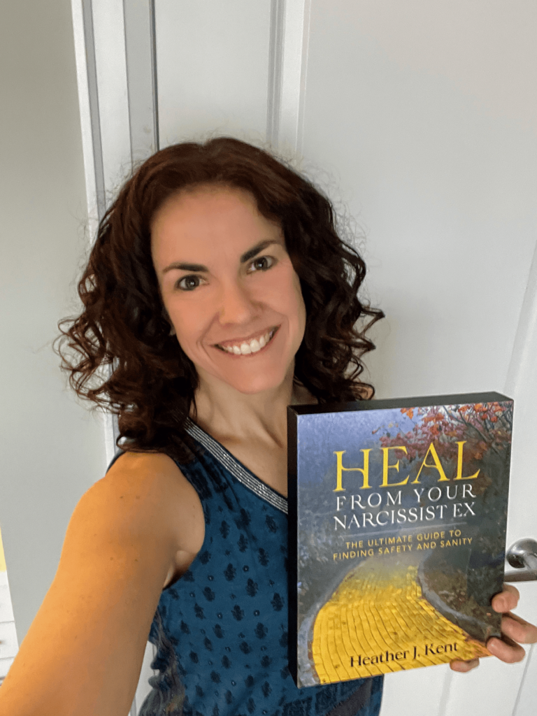 Heather Kent posing with book heal from your narcissist ex